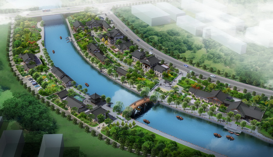 镇江古运河中段古建筑设计