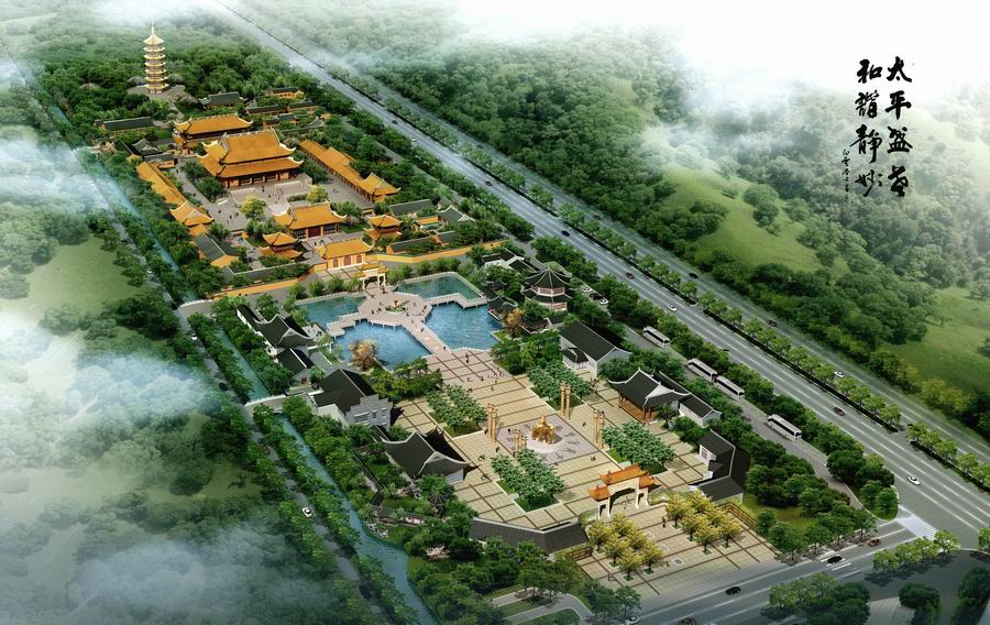 佛教文化广场鸟瞰图